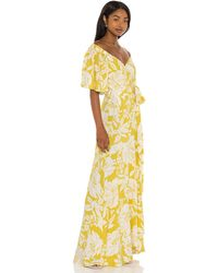 L*Space L* Платье Panama В Цвете Havana Blooms - Желтый