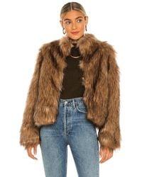 Unreal Fur Куртка Fur Delish В Цвете Мокко - Коричневый