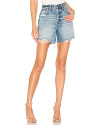 Pistola - Devin High Rise Cut Off Short - Lyst