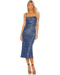 Flynn Skye Jackie Slip Dress - Blue
