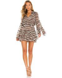 MISA Los Angles Платье Leeva В Цвете Chocolate Zebra - Многоцветный