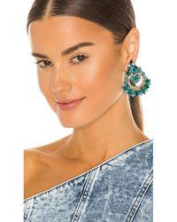 Ranjana Khan Khan Embellished イヤリング - ブルー