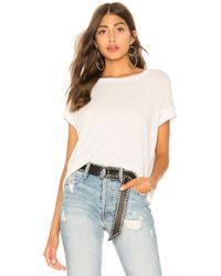 Mother - The High Sparrow Crop Top In White - Lyst