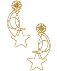 Mercedes Salazar Over The Moon Earrings - Metallic