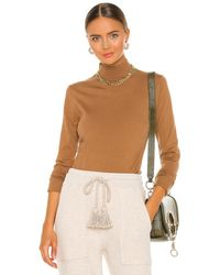 FRAME Luxe Turtleneck Sweater - Brown