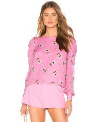 MILLY Haley Oberteil - Pink