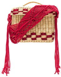 Nannacay Roge Small Macrame Strap Bag - Rot