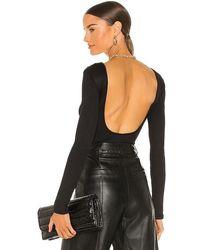 Anine Bing Lane Bodysuit - Black