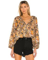 Free People Cool Meadow トップ - ブラウン