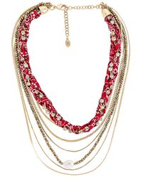 8 Other Reasons Multi Layered Necklace - Mettallic