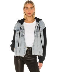 AllSaints Milena Hooded Jacket. Size XS/S. - Grau