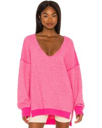 Free People Sweater Weather Vネック - ピンク