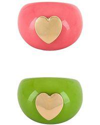 8 Other Reasons Conjunto de anillos heart you - Verde