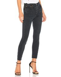 RE/DONE - Originals High Rise Ankle Crop With Stretch - Lyst