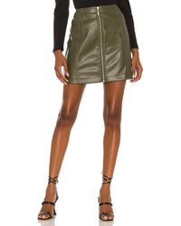 MINKPINK Zahlee Pu Mini Skirt - Green
