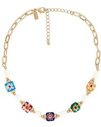 8 Other Reasons Beaded Chain Necklace - Metallic