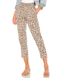 Monrow - Leopard Fray Patch Pockets Pant - Lyst