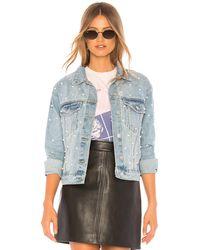 superdown - Украшенная Джинсовая Куртка Pearl В Цвете Светлый Синий Промытый - Lyst
