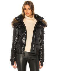 Sam. Dylan Detachable Fur Hood Puffer Jacket - Black