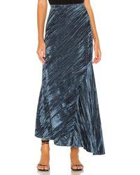 Free People Noa Velvet Slip Skirt - Blau
