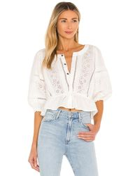 Free People Daisy Chain Eyelet Top - White
