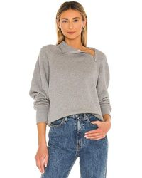 Marissa Webb So Uptight Zip Sweatshirt - Grey