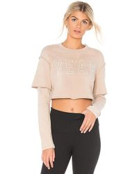 Year Of Ours - Warm Up Sweatshirt In Tan - Lyst