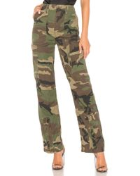 RE/DONE - Originals High Waisted Cargo Pant In Army - Lyst