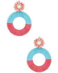 MaryJane Claverol Acapulco Hoops - Pink