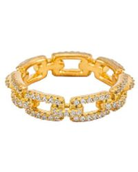 ADINAS JEWELS リング In Metallic Gold. Size 8. - メタリック