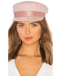 Don Suede Sailor Cap - Pink