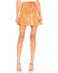 House of Harlow 1960 - X Revolve Sheila Skirt In Orange - Lyst