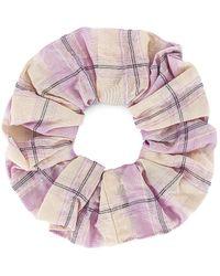 Ganni Scrunchie В Цвете Светло-лиловый Цветок - Многоцветный