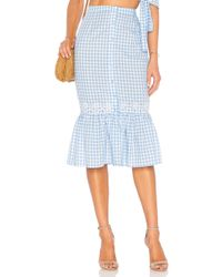Tularosa - Molina Skirt In Baby Blue - Lyst