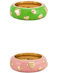8 Other Reasons Anillo gold heart - Verde