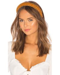 DONNI. Dolce Velvet Headband - Brown