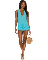 Luli Fama X Revolve Cosita Buena T Back Mini Dress - Blue