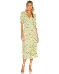Faithfull The Brand Maggie Midi Dress - Grün