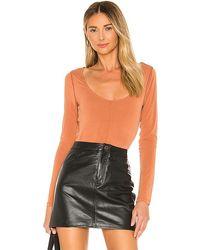 L'academie The Euginie Bodysuit - Orange