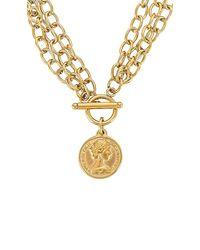 Ellie Vail Viviane Toggle Multi Chain Coin Necklace - Metallic