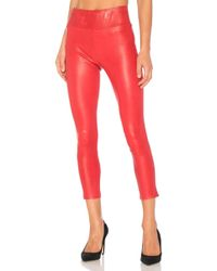 SPRWMN High Waist 3/4 Legging - Red