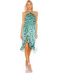 House of Harlow 1960 Платье Миди Baye В Цвете Green Leopard - Green. Размер L (также В M,s,xs,xxs). - Зеленый