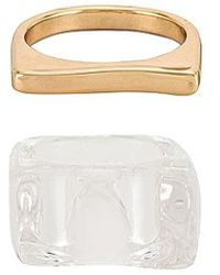 8 Other Reasons Ice_ice_b4by Ring Set - Metallic