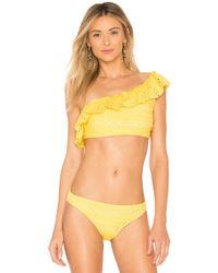 Shoshanna - Palm Springs Bikini Top In Yellow - Lyst