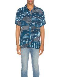 Native Youth Naja Short Sleeve Shirt - Blau