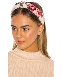LoveShackFancy X Lele Sadoughi Ruched Headband - White