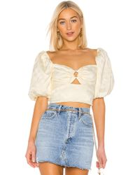 C/meo Collective Elate Top In Butter - Multicolore