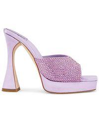 Jeffrey Campbell Мюли Hollywood В Цвете Lilac Satin - Пурпурный
