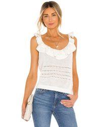 7 For All Mankind Crochet Ruffle Cami - Weiß