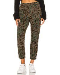 Pam & Gela Брюки Jaguar В Цвете Оливковый - Зеленый
